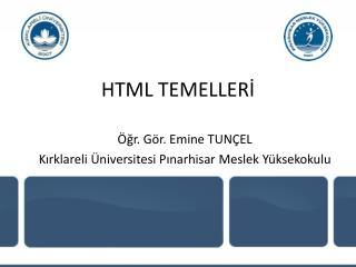 HTML TEMELLERİ