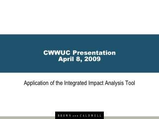 CWWUC Presentation April 8, 2009