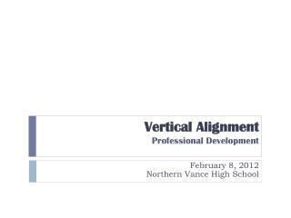 Vertical Alignment Professional Development
