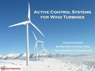 Active Control Systems for Wind Turbines