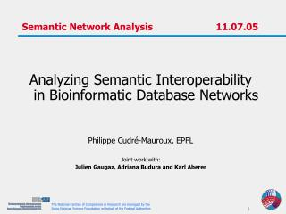 Semantic Network Analysis		        11.07.05