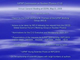 JOINT IUPAP--IUPAC COMMITTEE