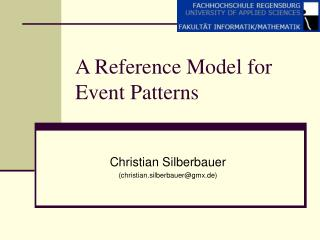 A Reference Model for Event Patterns