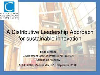 A Distributive Leadership Approach for sustainable innovation