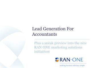 Lead Generation For Accountants
