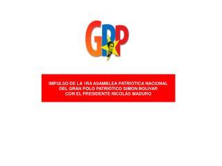 IMPULSO DE LA 1RA ASAMBLEA PATRIOTICA NACIONAL DEL GRAN POLO PATRI�TICO SIMON BOLIVAR