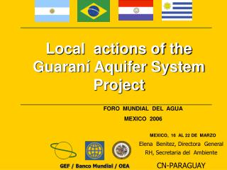 Local  actions of the Guaraní Aquifer System Project