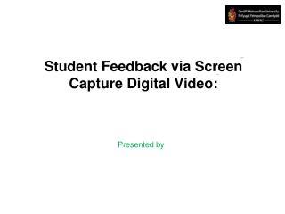 Student Feedback via Screen Capture Digital Video: