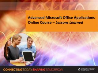 Advanced Microsoft Office Applications Online Course –  Lessons Learned