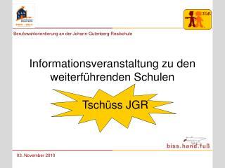 Informationsveranstaltung zu den weiterführenden Schulen