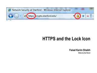 HTTPS and the Lock Icon