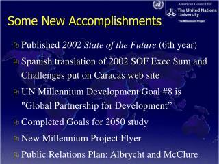 Some New Accomplishments