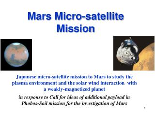 Mars Micro-satellite  Mission