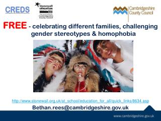 FREE -  celebrating different families ,  challenging gender stereotypes & homophobia