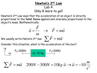 Newton's 2 nd  Law Lab 4 Only 8 more to go!!