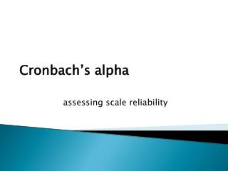 Cronbach s alpha