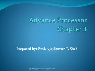 Advance Processor Chapter  3