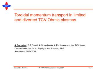 Toroidal momentum transport in limited and diverted TCV Ohmic plasmas