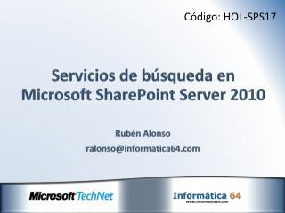 Servicios de búsqueda en Microsoft  SharePoint  Server 2010