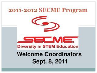 2011-2012 SECME Program