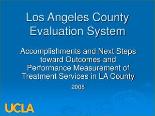 Los Angeles County Evaluation System