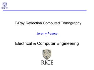 T-Ray Reflection Computed Tomography