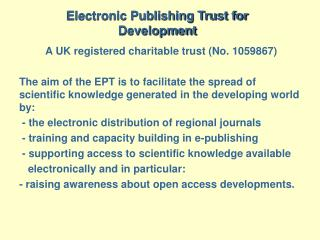 Electronic Publishing Trust for Development
