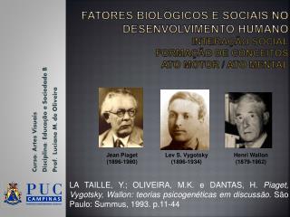 Curso: Artes Visuais Disciplina: Educ ação e Sociedade B Prof.  Luciane M.  de Oliveira