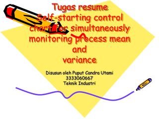 Tugas resume Self-starting control chart for simultaneously monitoring process mean and variance