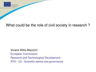 What could be the role of civil society in research ?