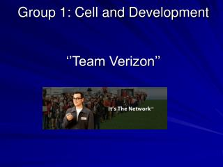 Group 1: Cell and Development ''Team Verizon''