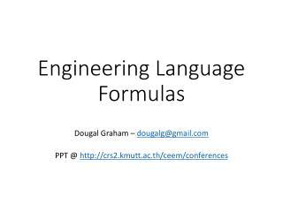 Engineering Language Formulas