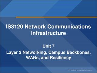 IS3120 Network Communications Infrastructure Unit 7