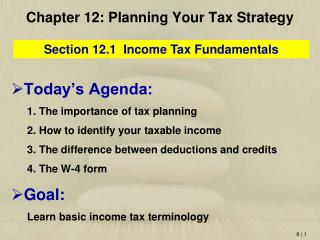 Chapter  12: Planning Your Tax Strategy