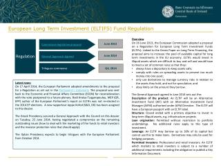 European Long Term Investment (ELTIFS) Fund Regulation