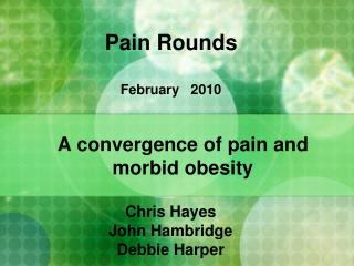 Pain Rounds February   2010