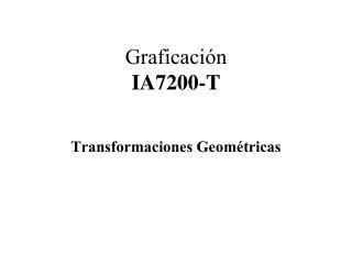 Graficaci ón IA7200-T