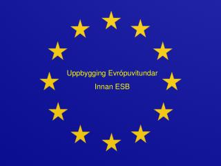 Uppbygging Evrópuvitundar  Innan ESB