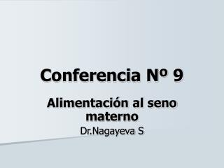 Conferencia Nº 9