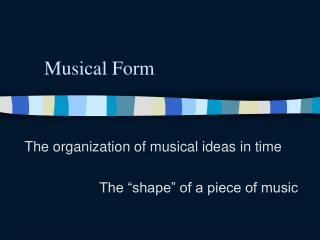 Musical Form