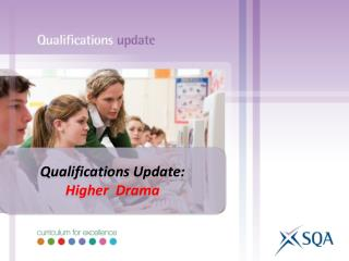 Qualifications Update: Higher  Drama