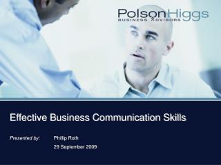Effective Business Communication Skills