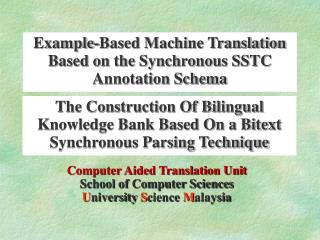 The Construction Of Bilingual Knowledge Bank Based On a Bitext Synchronous Parsing Technique