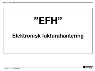 """""""EFH"""" Elektronisk fakturahantering"""