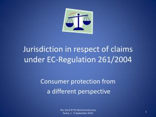 Jurisdiction  in respect of claims  under EC-Regulation  261/2004