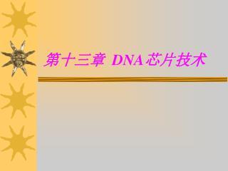 第十三章   DNA 芯片技术