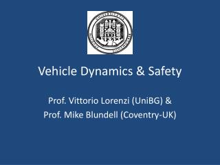 Vehicle Dynamics & Safety