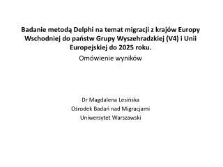 Badanie Delhi Polska 2013/2014