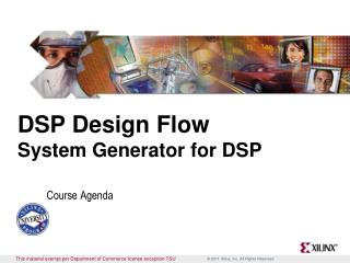 DSP Design Flow System Generator for DSP