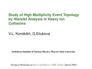 Study of High Multiplicity Event Topology by Wavelet Analysis in Heavy Ion Collisions